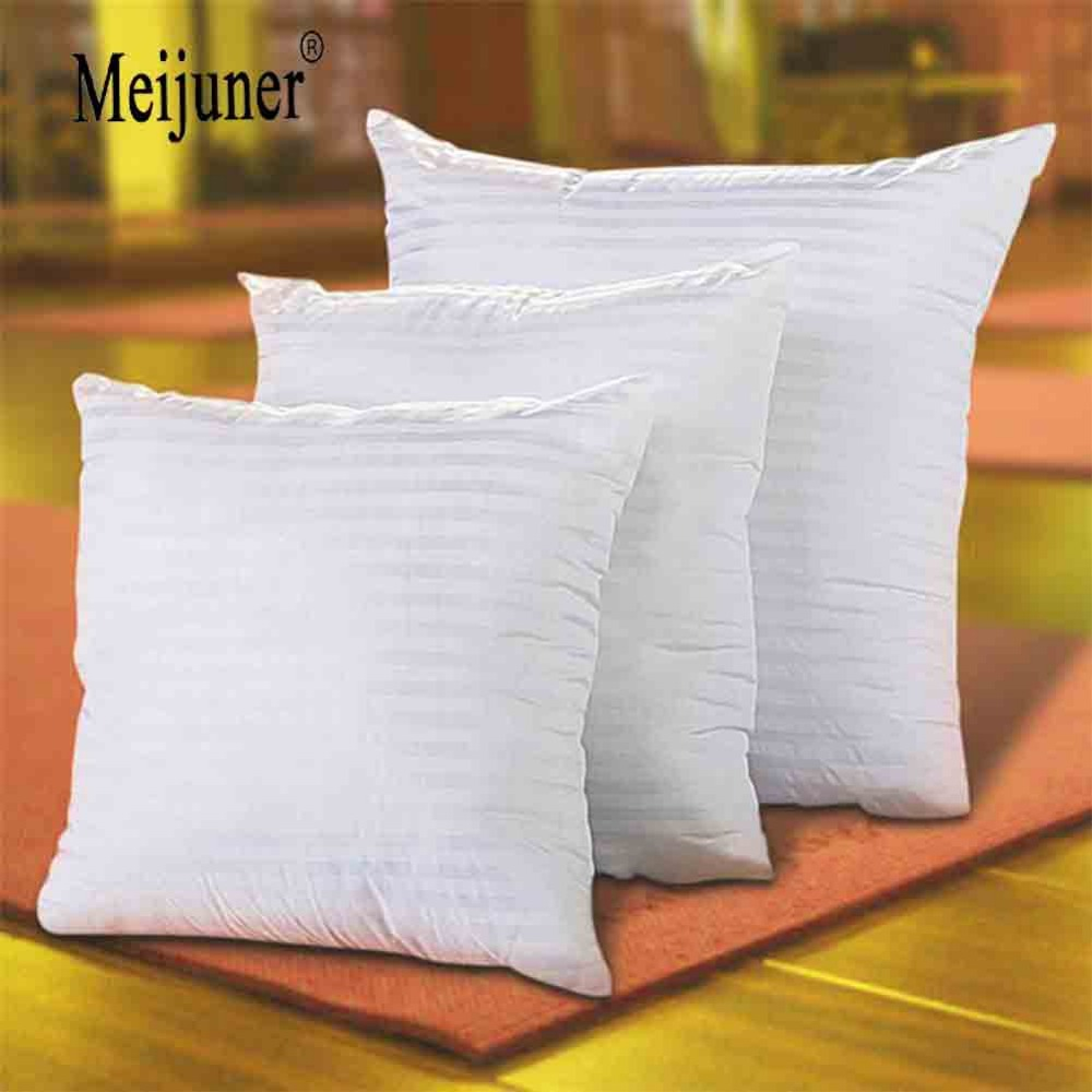HTB1zTTTaamWBuNkHFJHq6yatVXap Meijuner Square White Cushion Pillow interior Insert Soft PP Cotton for Home Decor Sofa Chair Throw Pillow Core Seat Cushion