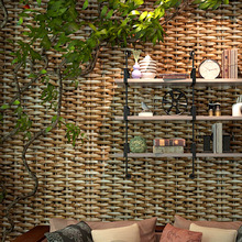 3d vinyl straw weaving wallpaper Chinese classical style tea house hotel personality mat natural eco-friendly  wallpaper roll 6185 top quaity chinese style metallic foil inspired art wallpaper 0 53m 10m roll 3d wallpaper for hotel home decoration