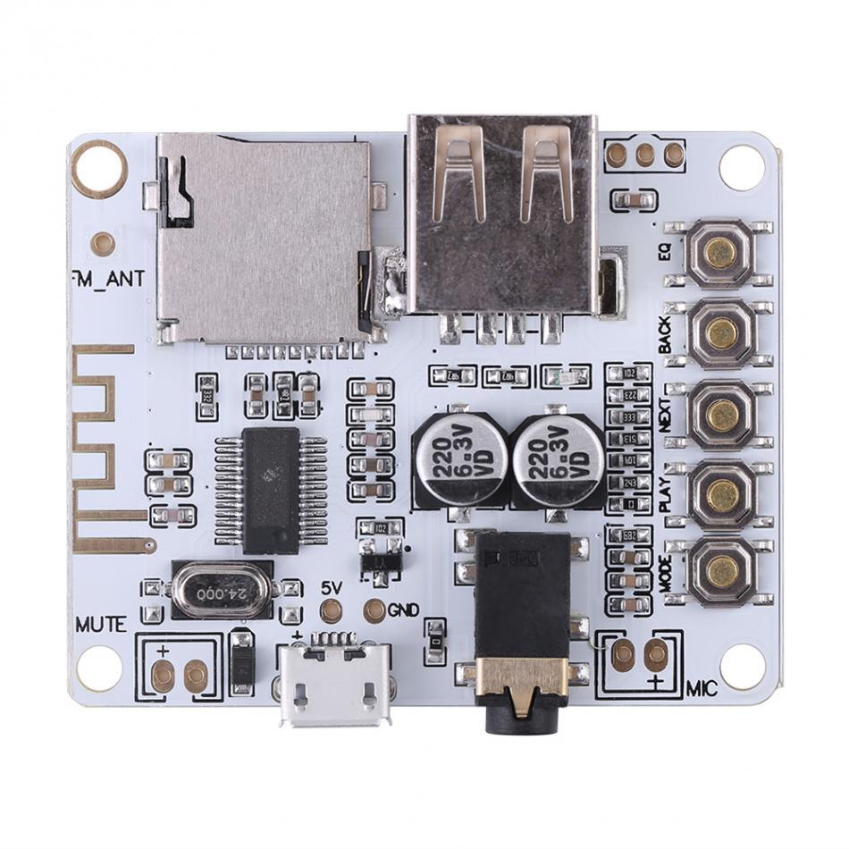 DC 5V Wireless Bluetooth 4.1 Audio Receiver Module Lossless Car Speaker Amplifier Circuit Board USB Decode playback bluetooth 4 0 audio module csr8630 krc 86b wireless stereo receiver micro usb 3 5mm speaker amplifier sound senser fz1707