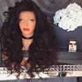 180% Плотности Толщиной Полные Парики Шнурка Перуанский Свободная Волна Тело для Черных Женщин Вьющиеся Волосы Девственницы Передние Парики Шнурка Естественно волосяного покрова