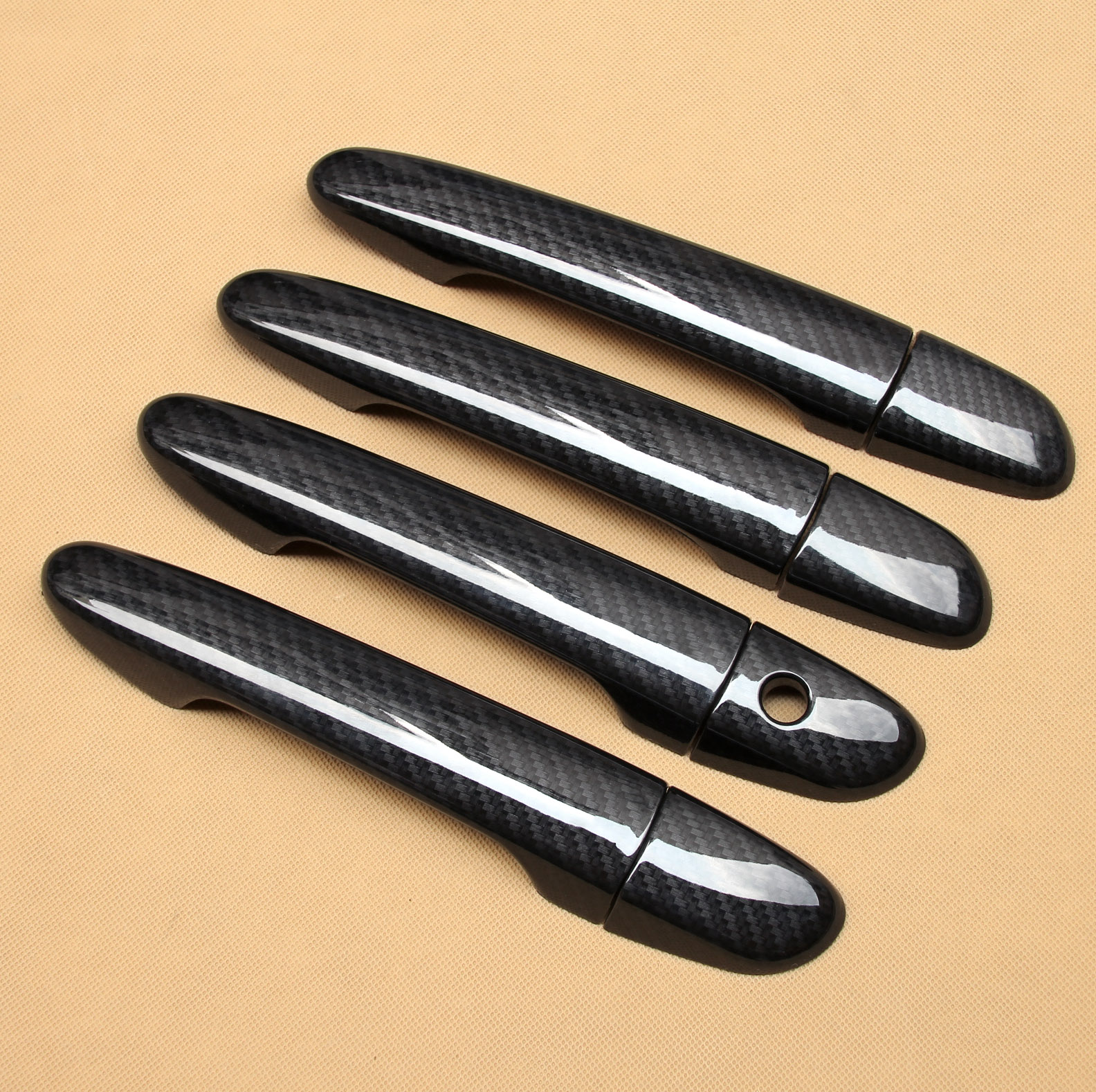Carbon Fiber Look Car Door Handle Cover 8Pcs For <font><b>Mazda</b></font> 2 3 6 <font><b>CX</b></font>-3/<font><b>5</b></font>/9 BM BN DJ DL DK GJ GL KE KF TC CX3 CX5 CX9 Molding Part image