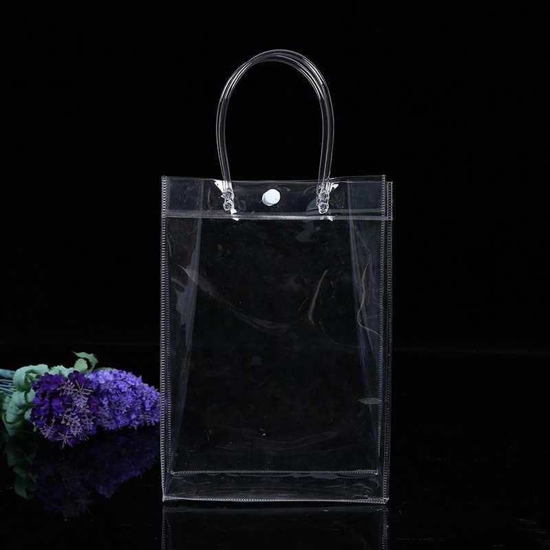 ETya Şeffaf Kadın Çanta Moda PVC Seyahat Mağaza Bagaj Çanta Büyük Kapasiteli Şeffaf Plaj Çantası El çantaları Kozmetik Tote