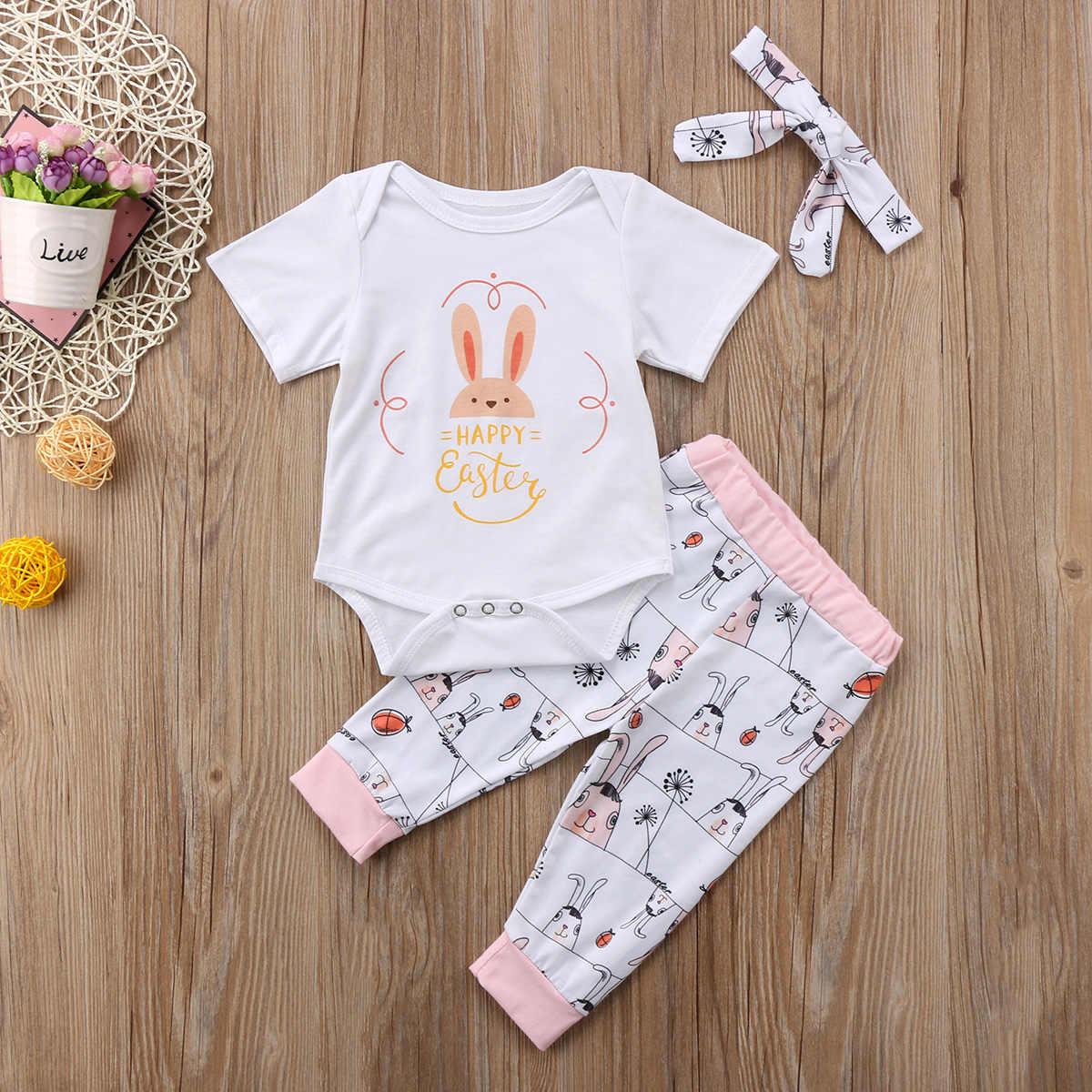 Детский комбинезон для новорожденных девочек, комбинезон + штаны, комбинезон, боди, одежда, наряд, Пасхальная Пасха