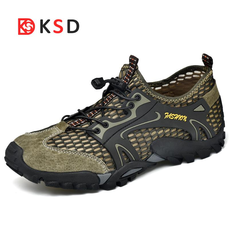 2018 Men Hiking Shoes Outdoor Sneakers Breathable Sport Shoes Men Big Size Hiking Sandals For Men Trekking Trail Water Sandals