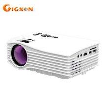 Gigxon-uc36 g036 nuevo 640*480 mini led lcd proyector 30 ansi lúmenes de cine en casa proyector portátil