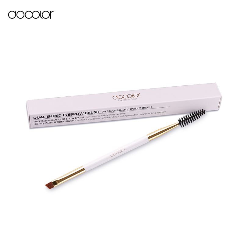 Docolor Brand Double Eyebrow Brush+Eyebrow Comb beauty cosmetic brush eyebrow makeup brushes for eyeBrow Brush blending eye