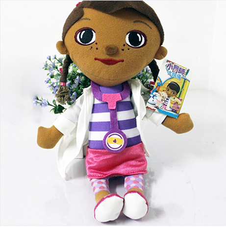 1 Piece 28cm Free Ship Stuffed Toy Kid Girl Christmas gifts Lovely Doctors Girls Toys