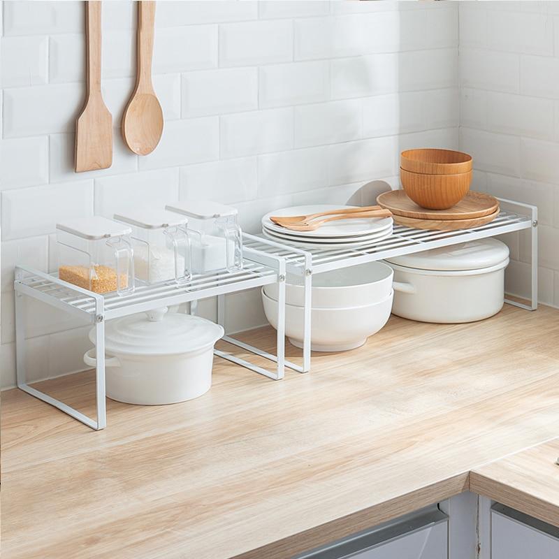 Iron Kitchen Organizer Dish Drainer Kitchen Shelf Table Board Racks Plate Bowls Storage Holders Home Organization Accessories|Racks & Holders| |  - title=