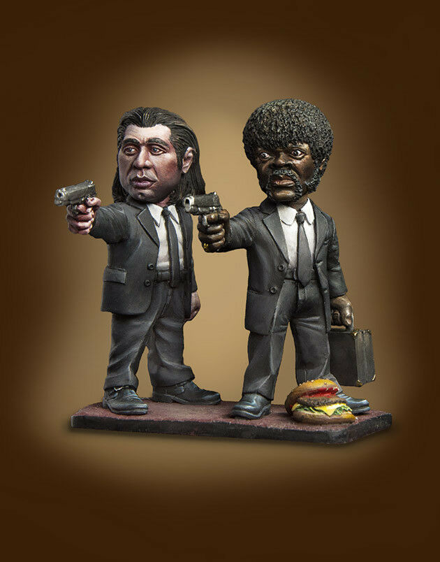 1/32 68MM Stand Film Character Include 2 (WITH BASE )   Resin Figure Model Kits Miniature Gk Unassembly Unpainted