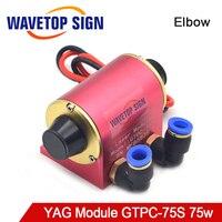 WaveTopSign JiTai GTPC 75S 75w Elbow YAG Laser Module GTPC 75S 90Degrees Laser Diode Pump use for YAG Laser Machine