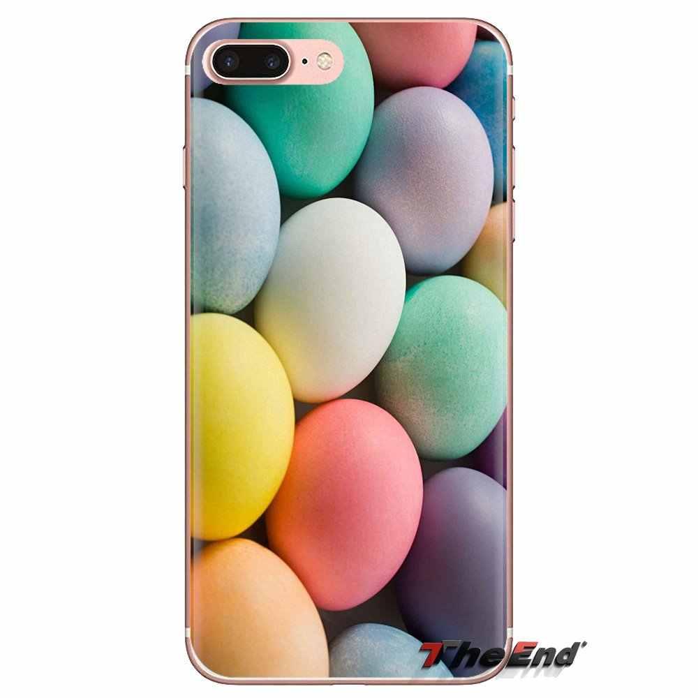 Weiche Shell Fall Für Huawei G7 G8 P7 P8 P9 P10 P20 P30 Lite Mini Pro P Smart Plus 2017 2018 2019 ostern Eier Regenbogen Und Bunte