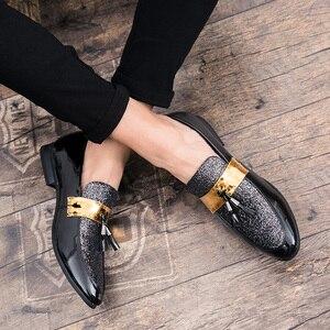 Image 5 - ROMMEDAL דירות עור מקרית גברים נעלי לגבר 2019 מכירה לוהטת אוקספורד חתונה שמלת מסיבת זכר רשמי גליטר הנעלה סיטונאי