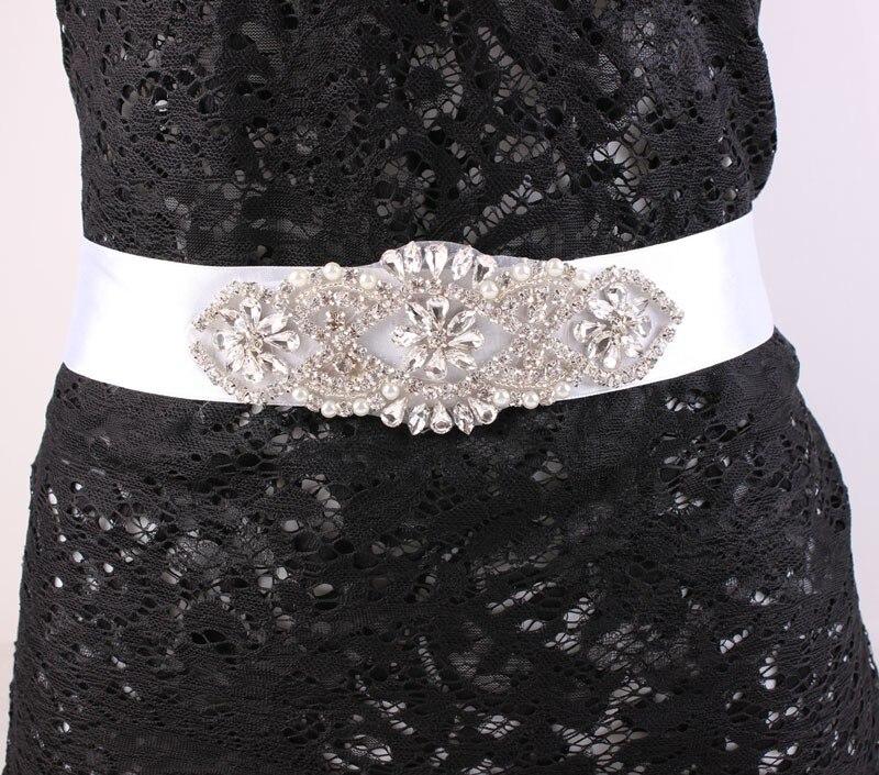 Ženy opasek drahokamu svatební opasek perly a křišťálově korálky křídla opasek květina opasek svatební doplňky