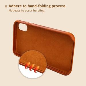 Image 4 - Jisoncase עור מקרה עבור iPhone X כיסוי אמיתי עור יוקרה Slim נגד לדפוק בחזרה כיסוי עבור iPhone X קאפה לקנות אחד לקבל שני