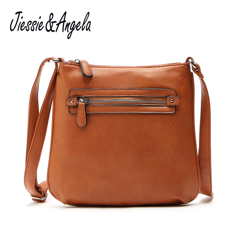Jiessie & Angela New women messenger bags pu leather handbags cross body shoulder bag bolsos mujer de marca famosa ladys bags handbags women famous brands shoulder bag female bags women handbag women bolsa feminina bolsos mujer de marca famosa 2017