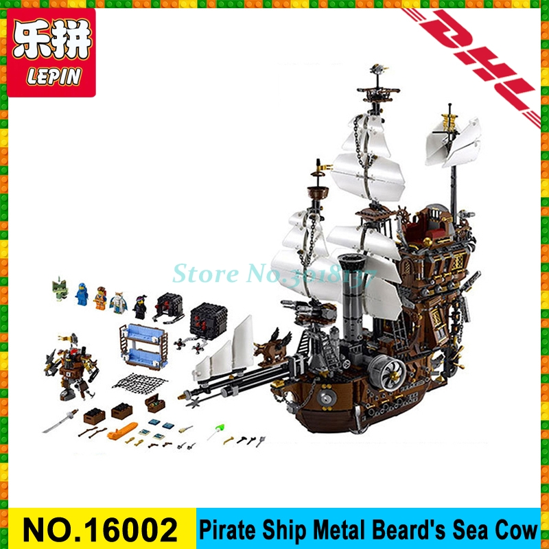 IN STOCK LEPIN 16002 2791Pcs Pirate Ship MetalBeard's Sea Cow Model Building Kits Blocks Bricks Compatible legoed 10708 Toys lepin 16002 pirate ship metal beard s sea cow model building kit block 2791pcs bricks compatible with legoe caribbean 70810