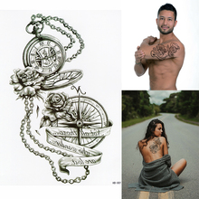 Compass Temporary Tattoo - Wind Rose Compass Rose Waterproof Mens Womens Kids