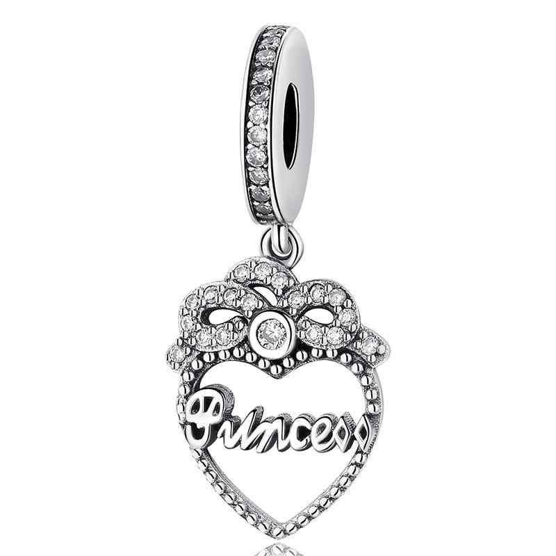 67cbe13e3 ... Valentine's Day 925 Sterling Silver Red Beads Cute Crystal Princess  Hanging High Heels Charms Fits Pandora ...