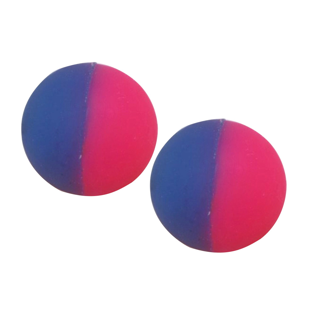 2 Pcs Double Color Luminous Bouncing Ball Outdoor Healthy Sports Toys Glow Intelligent Kids Outdoor Ball Toys