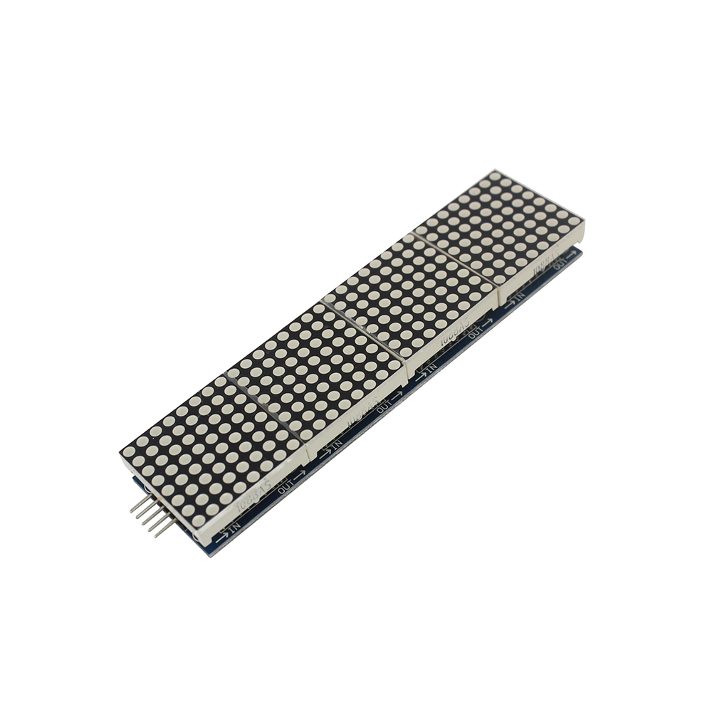 MAX7219 Dot Matrix Module Microcontroller 4 In One Display with 5P Line for arduino Diy Kit