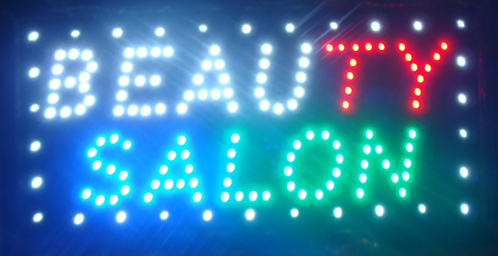 CHENXI Ultra bright led beauty salon sign billboard led neon light animated electronic animated led sign 10*19 inch indoor