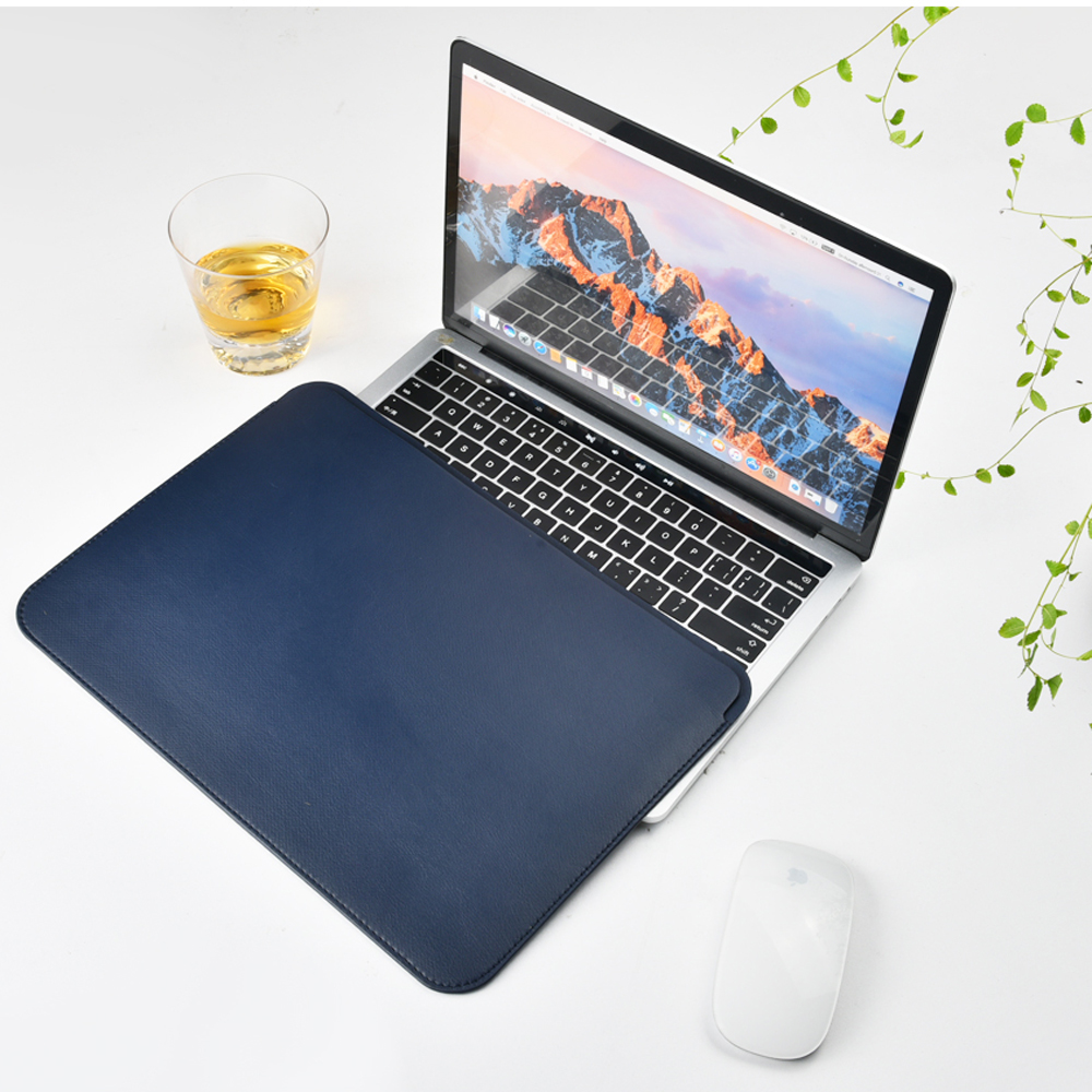 WiWU Laptop Sleeve for MacBook Air 13 inch Water resistant PU Leather Case for MacBook Pro 13 15 Inch Ultra slim Laptop Bag Case in Laptop Bags Cases from Computer Office