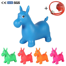 Thickened Baby Toys Inflatable Jumping Bouncing Horse Bouncer Seat Toy  Bouncy Kids Rocking Ride on