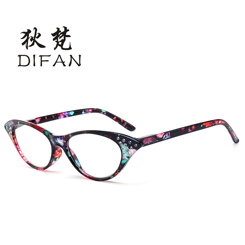 baaab3ce48 Woman Reading Glasses Lady Cat Eye Glasses High Quality Resin lens TR Eyeglasses  Frame Female Elegance Eyewear Diamond Spectacle-in Reading Glasses from ...