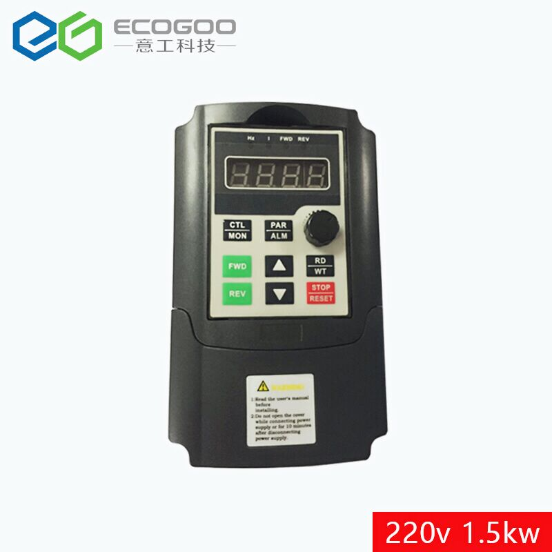 220V 1.5KW Single Phase input and 220V 3 Phase Output Frequency Converter / Adjustable Speed Drive / Frequency Inverter / VFD frequency inverter 5 5kw 220v single phase input 220v three phase output 5 5kw frequency converter
