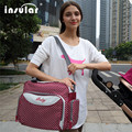 Hot  Red Color Brand Polka Dot Simple Design Ladies Handband One Shoulder Unisex Baby Waterproof  Diaper Bag,Fashion Nappy Bag