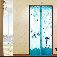Monkey Design Mosquito Net Door Magnetic Mosquito Screen Door Summer Style Mesh Curtain 90 210cm 100
