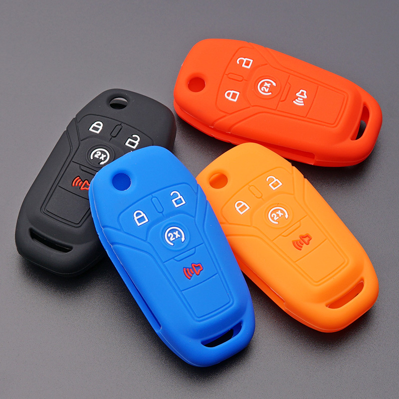silicone key fob cover case shell hood  ford focus fiesta fusion    mustang explorer