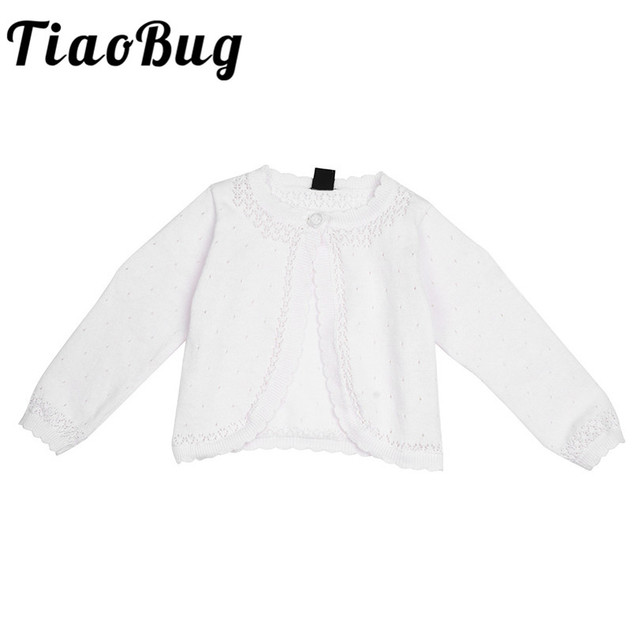 05ebe1e01 White Infant Baby Girls Boleros Wedding Jackets for Girls Summer ...