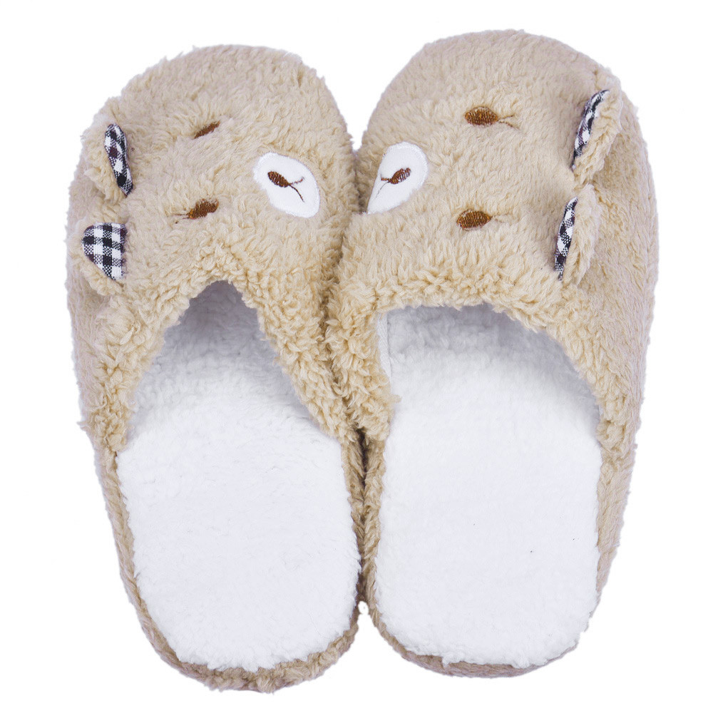 Lovely Bear Home Floor Soft Cotton-padded Home Slippers Short Plush Warm Soft Cotton Women Slippers Slippers Shoes 36-40 бюстгальтер vis a vis vis a vis vi003ewatyi6