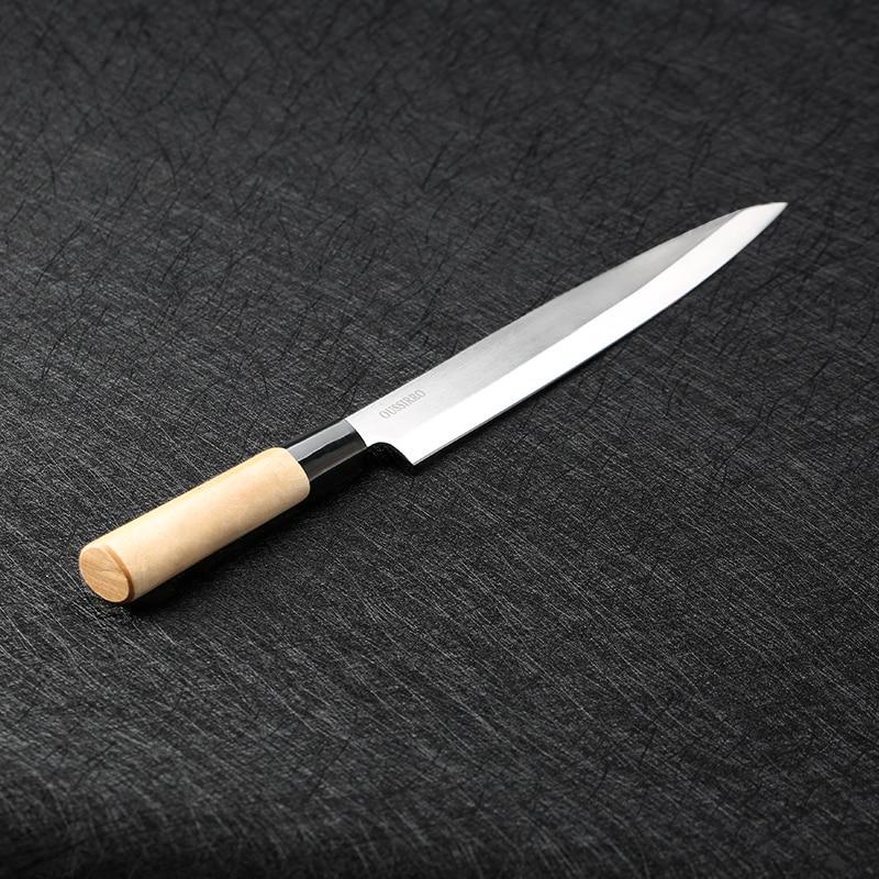 Sashimi couteau À Trancher Saumon avec Fourreau en acier inoxydable couperet cuisine couteaux Unilatérale chef couteaux sushi couteau Cuisine