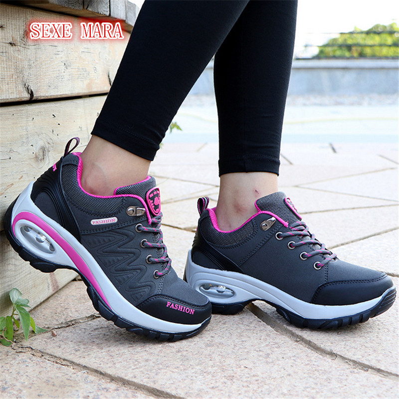 Women's Sneakers Women Air Running Shoes for Women Sport shoes Air Cushioning Outdoor female athletic shoe Trainers Jogging 2017brand sport mesh men running shoes athletic sneakers air breath increased within zapatillas deportivas trainers couple shoes