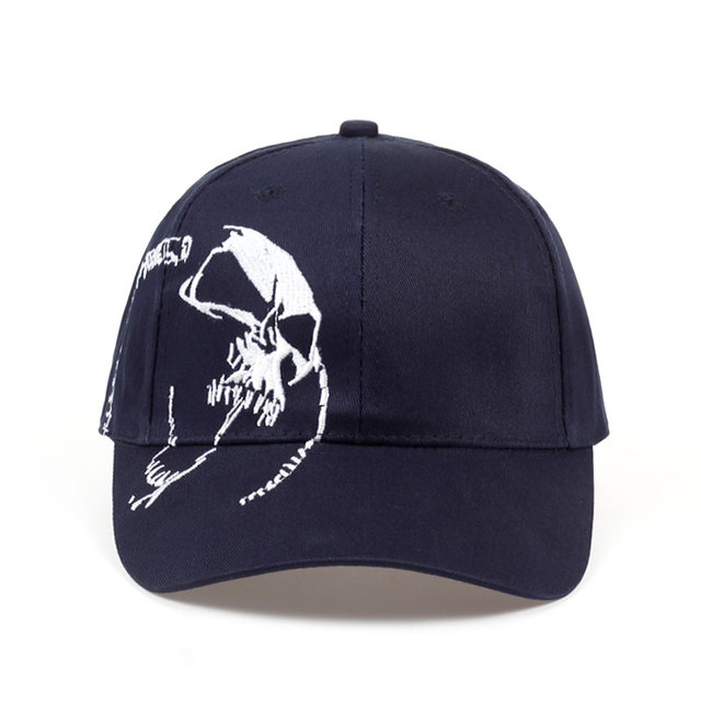 SKULL EMBROIDERY CAPS (2 VARIAN)