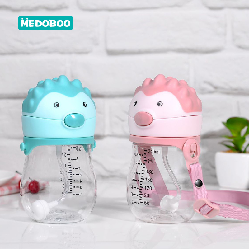 Medoboo Baby Water Bottle Tritan Cartoon Kettle Children Learn Drinking Cup Sports School *