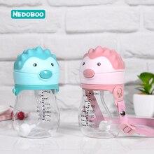 Medoboo Baby Water Bottle Tritan Cartoon Kettle Children Learn Drinking Cup Sports School *