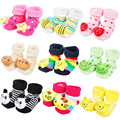 3D Baby Anti Slip Newborn 0-6 Month Cotton Lovely Cute Shoes Animal Cartoon Slippers Boots Boy Girl Unisex kid Socks 3 pairs