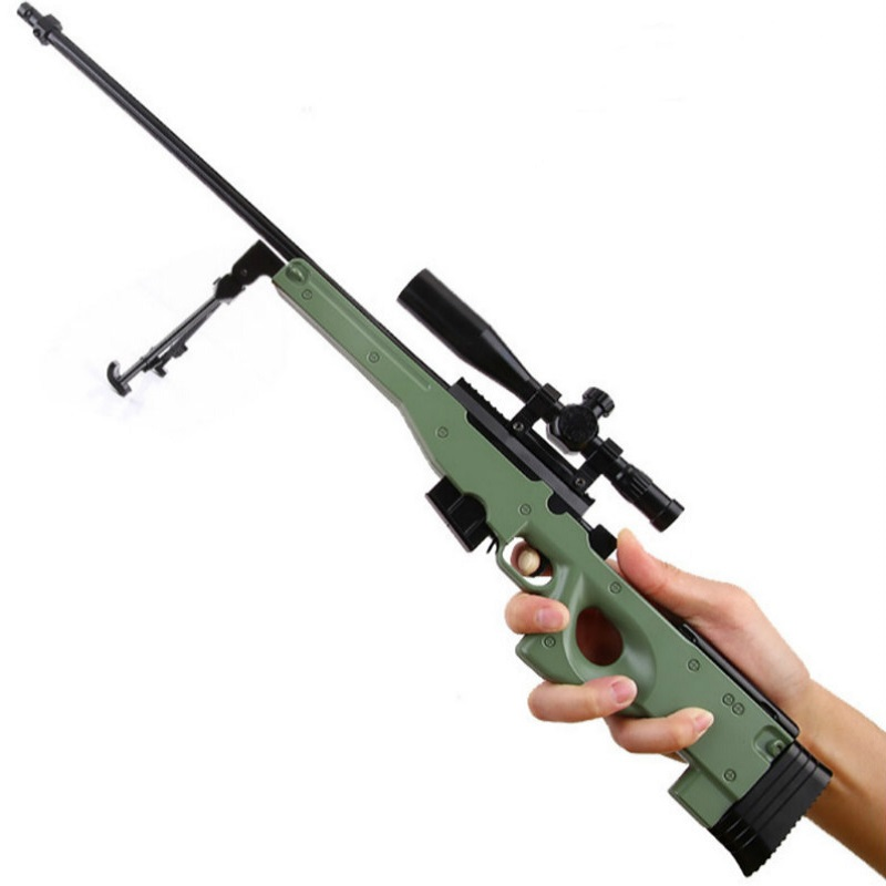 50cm awp metal toy gun diy toy sniper rifle arma de brinquedo...