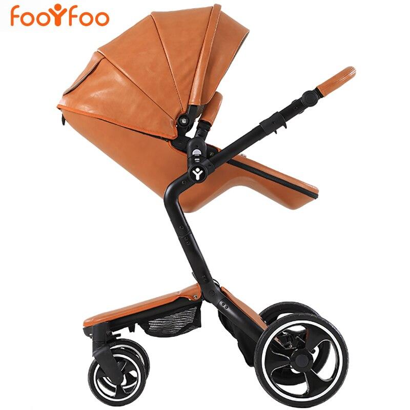 European Luxury Baby Stroller High View Prams Folding Poussette Kinderwagen bebek arabas FOOFOOEuropean Luxury Baby Stroller High View Prams Folding Poussette Kinderwagen bebek arabas FOOFOO