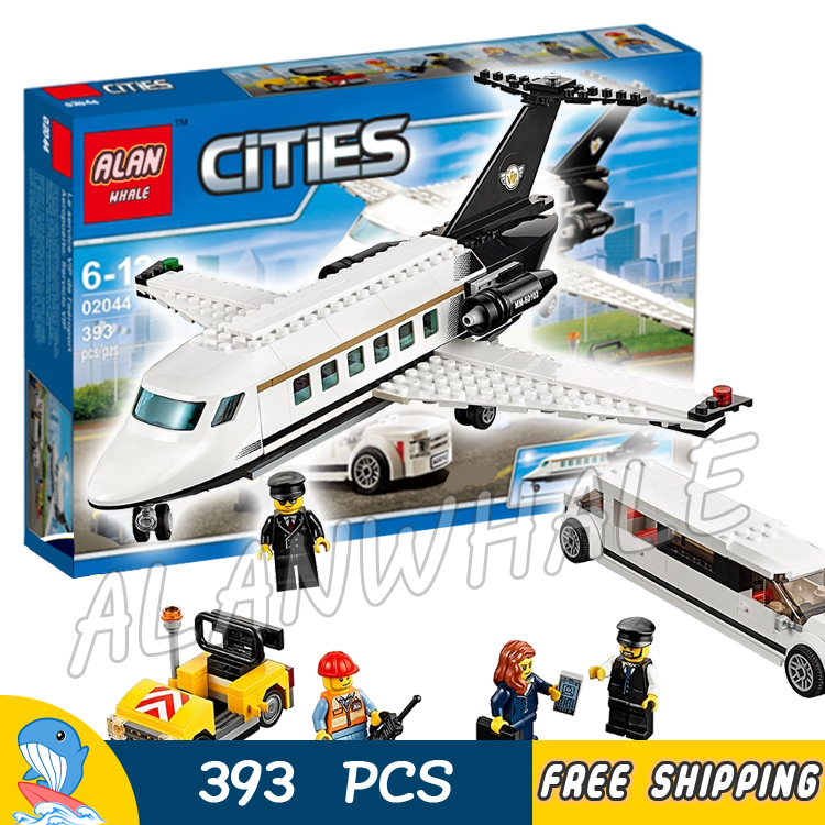 393pcs New City Airport VIP Service Private Plane Limousine 02044 Model Building Blocks Children Toy Bricks Compatible With lego city airport vip private plane blocks bricks building technic christmas toys for children compatible with legoeinglys lepin 8911