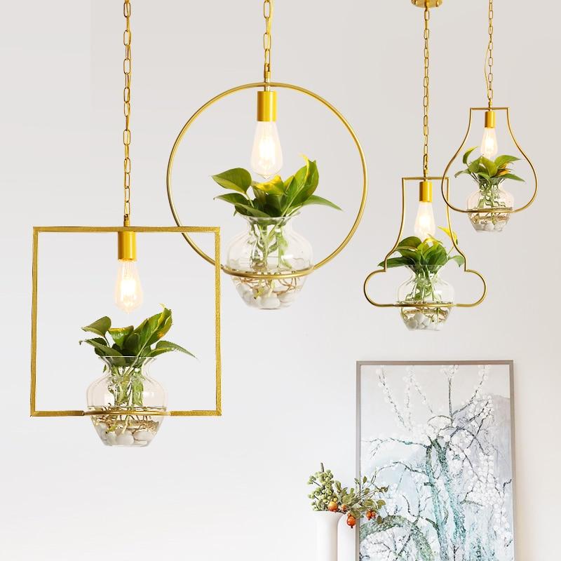 Eusolis Plant Glass Pendant Light Fixtures Lustres De Sala Luces Decorativas Lighting Modern Lamp Kitchen Crystal Light Avizeler