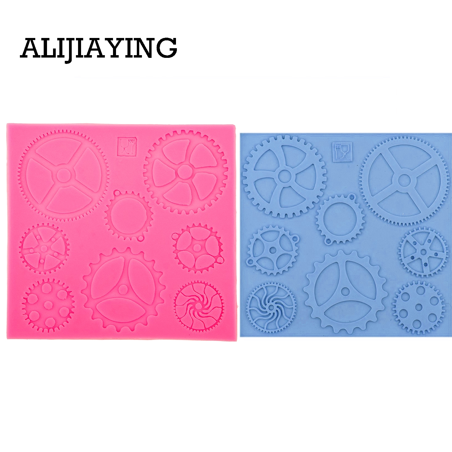 M0549 Steampunk Gears Confeitaria Silicone Mold Fondant Cake Molds Cupcake Mould Chocolate Baking Tools for Cakes
