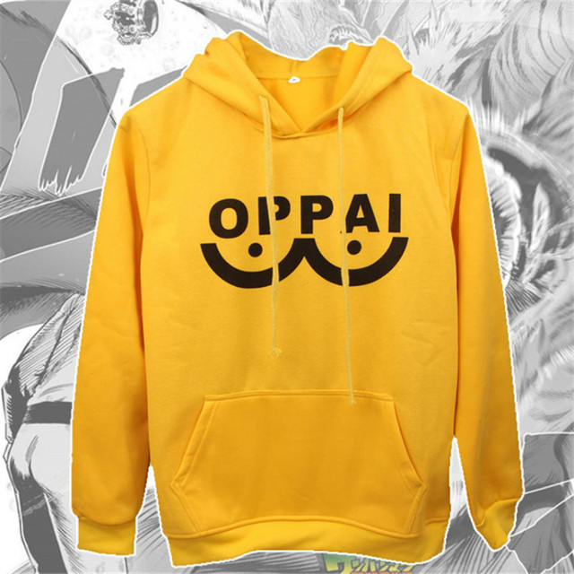 One Punch Man Saitama Oppai Hoodie mens anime cosplay costume ONE PUNCH-MAN harajuku sweatshirts hoodies