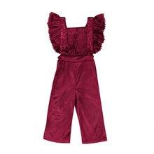 Дети Обувь для девочек комбинезон без рукавов с открытой спиной Комбинезоны для малышек Одежда для девочек хлопок сплошной синий и красный цвета комбинезон милый наряд
