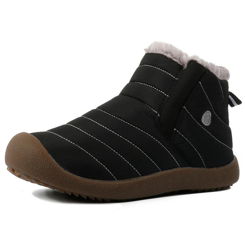 Plush warm winter boots men shoes elastic band male shoes ankle men boots plus size waterproof men snow boots footwear 39 48
