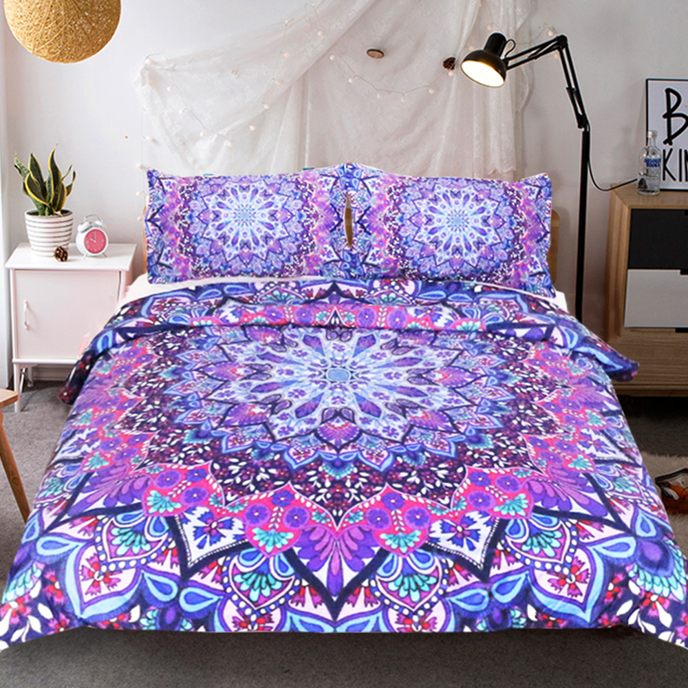 Custom Made Au Us Size Bohemian Bedding Sets 3D Mandala Blue Printing Duvet  Cover Set Bedsheet Pillowcase King Size Bedlinen In Bedding Sets From Home  ...