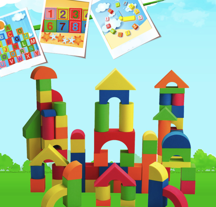 Building Blocks EVA Soft Wood Children's Birthday Present Educational Intelligence DIY Gifts Environmental Protection Toys платья eva платье